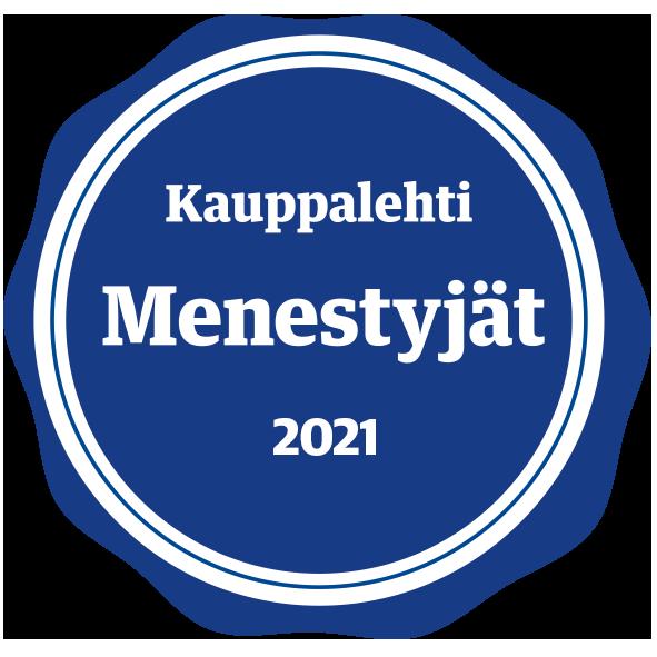 Kauppalehti Menestyjät 2021-sinetti